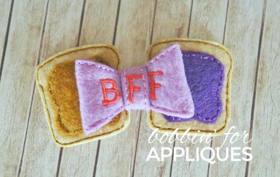 3D Felt BFF Best Friend Peanut Butter Jelly By