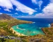 "Scenic Hawaii Fine Art Print titled ""Hanauma Bay"" on 5""x7"", 8""x10"", or 11""x14"" White or Black Mat"