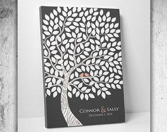 Guest Book Tree - Custom Wedding Guest Book - Wedding Signature Book 75-100 Guests - Wrapped Canvas - 16x20,20x30 or 24x36 Inches