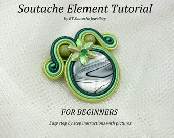 Soutache tutorial pattern for BEGINNERS step by step easy tutorial with photos PDF file english tutorial soutache jewelry basic tutorial