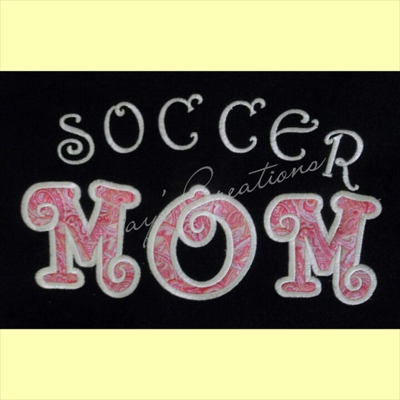 Embroidered sweatshirt - soccer mom embroidered hooded sweatshirt - great mom gift - Mothers day shirt