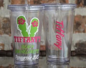 Flip Flops Beach Bachelorette Party Tumbler Cup