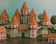 Ready to paint, Ceramic Bisque, miniature castle kit. *Petro Mold Co.*