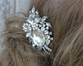 Rhinestone and Crystal Bridal Comb/ Wedding/ Comb