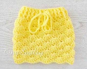 Yellow Baby Girl Skirt, Crochet Baby Skirt, Newborn Baby Girl Skirt, Baby Girl Outfit, Baby Girls Crochet Clothes, Baby Girl Gift
