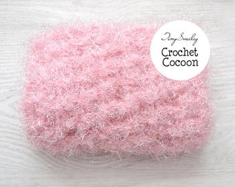 Baby Cocoon, Baby Crochet Fuzzy Cocoon, Fuzzy Newborn Cocoon, Pink Cocoon, Baby Cocoon, Photo Prop, Baby Mohair Cocoon