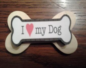 l love my dog magnet