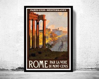 Vintage Poster of Rome Italy Italia  1920 Tourism poster travel