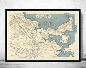 Old Map of Quincy 1897 Massachusetts