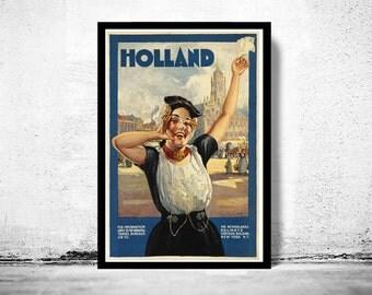 Vintage Poster of Holland Netherlands