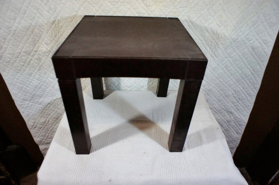 Vintage Plastic Parsons Table Retro Side Table Stacking