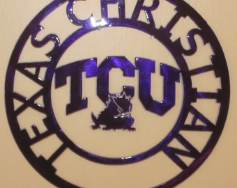 T C U Horned Frogs, Metal art, Texas Christian University