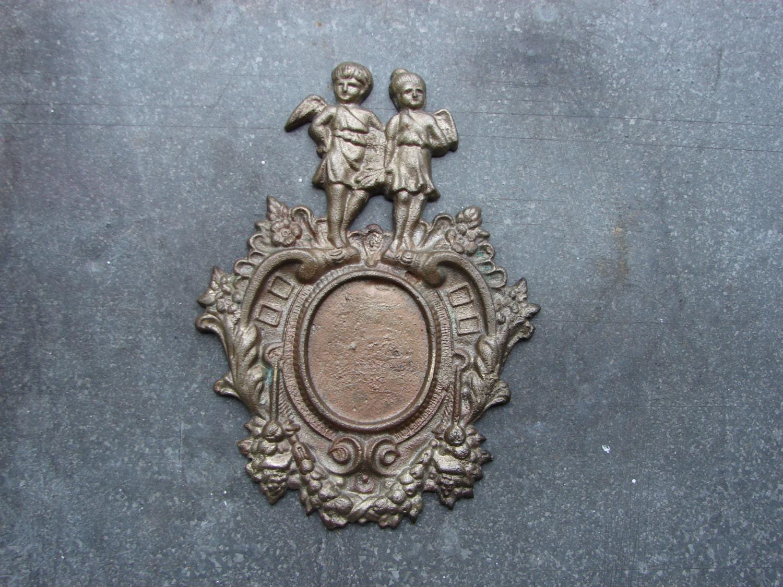 Vintage solid brass or bronze door number decor with for Antique door decoration