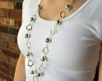 Sensational Silver Lanyard Necklace
