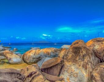 Seascape #1 - The Baths - BVI - British Virgin Islands - Caribbean - HDR - Seascapes - Coastlines - Beach -