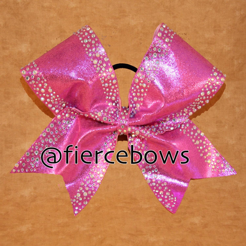 Perfectly Pink Rhinestone Cheer Bow