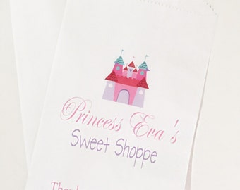 Castle Themed Birthday Favor Bags, Princess Birthday, Candy Buffet Bags, Birthday Treat Bags