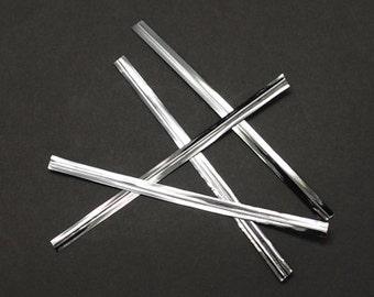 BULK: Silver Wire Twist Ties 80x4mm - 1000 pcs.