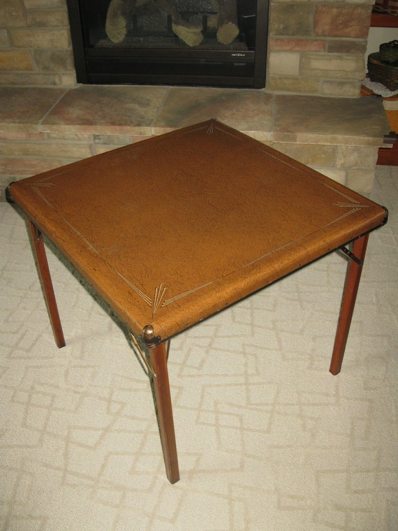 Vintage Samson Card Table Shwayder Bros Inc Art Deco