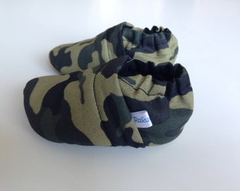 Cotton Baby Booties Camoufluge
