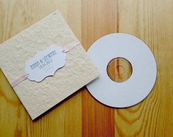 CD Sleeve, Luxury, DVD Sleeve, Natural Lokta, Choice of Ribbon Colour.