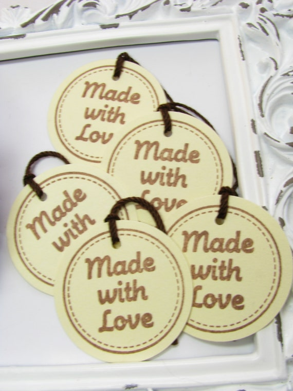 Made with love tags price tags craft trade show tags for Price tags for craft shows