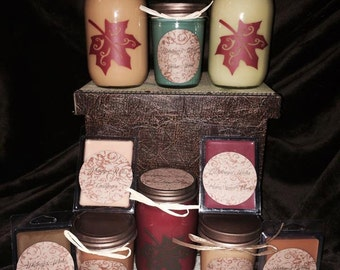 8oz and 16 oz soy wax candles