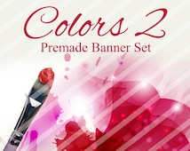 "Shop banner - Shop banner Set - Etsy shop banner set - Graphic banners - Banners - ""Colors 2"""