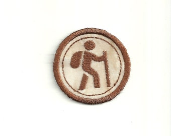 "2"" Hiking Merit Badge, Patch! Any Color combo! Custom Made!"