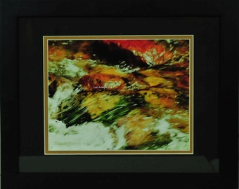 Color Flow Framed and Matted