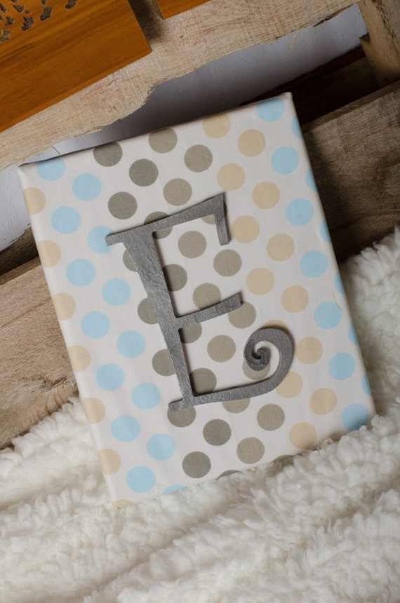 Items similar to sale nursery bedroom fabric covered for Fabric covered letters for nursery