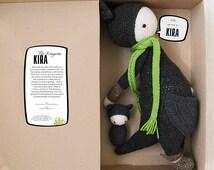 Kira The Kangaroo inspired by Lalylala / Crochet Doll / Handmade Amigurumi / Amigurumi animal