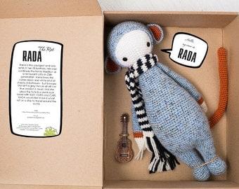 Rada le Rat inspiré par Lalylala / Crochet poupée / Handmade Amigurumi / animal Amigurumi