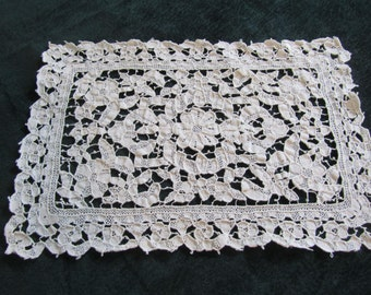 antique lace placemats, handworked needle lace, gorgeous