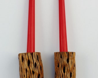 Cholla Cactus Candle Stick Holders-Short #1