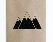 """Triple Mountain Rubber Stamp - 2""""x2"""""""