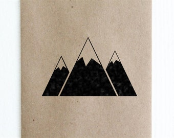 "Triple Mountain Rubber Stamp - 2""x2"""