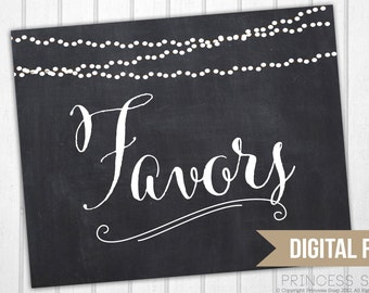 Favors Chalkboard Sign, Wedding Sign, 8x10 Rustic Wedding, Wedding Sign, Favors Printable, Favors Table Sign