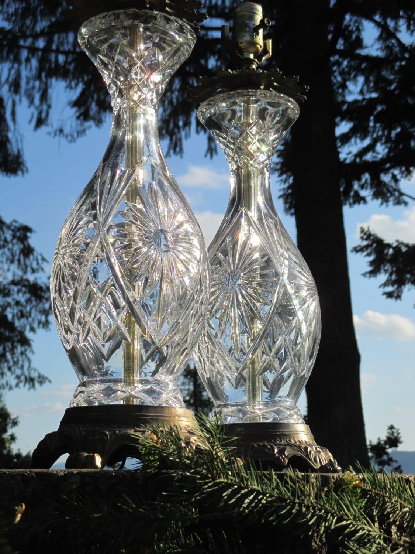 Lead crystal table lamp - Like This Item