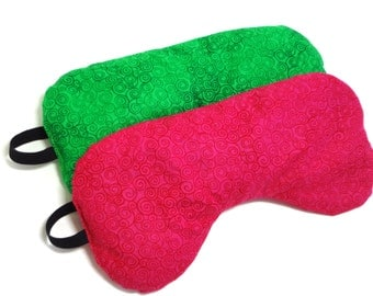 Lipstick Pink Eye Mask with Flaxseed and Lavender