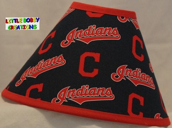 Baseball Mlb Cleveland Indians Fabric Lamp Shade 10 Sizes To