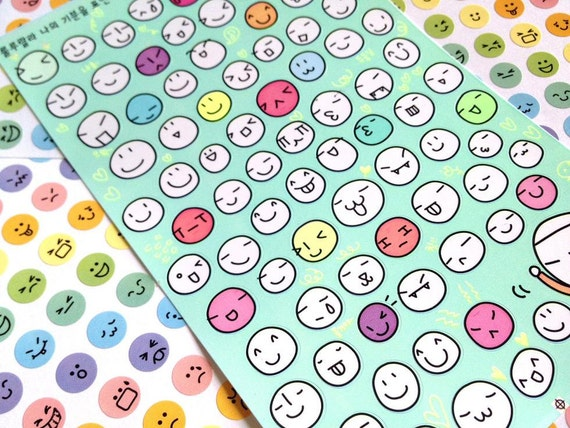 funny face happy face sticker facial expression deco sticker On stickers murs deco