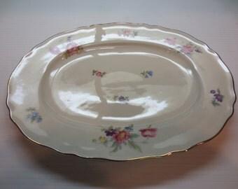 "12"" Oval Serving Platter By Krautheim"