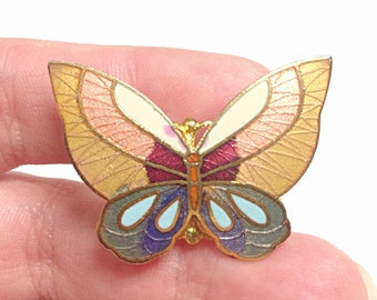 Butterfly ring, insect ring, bug ring, gold, pink, white, red and blue butterfly