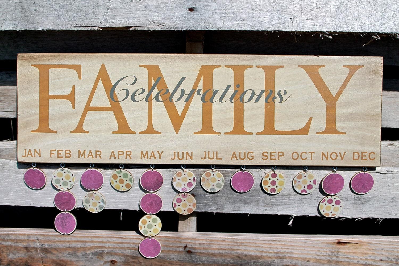 Family Celebration Board Family Celebrations Board