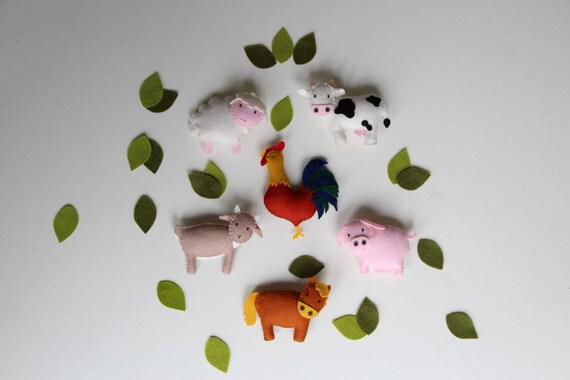 Felt Animal Ornament Patterns Pattern Felt Ornaments 6 Farm