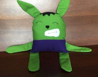 Stuffed Hulk Rabbit - Forest Friends - Hulk Plushie