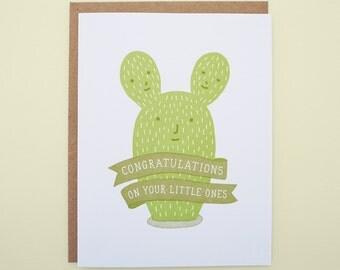 Congratulations on Your Little Ones Letterpress Card