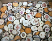 """Set of 125 Wood Slices! Small Assorted Tree Branch Slices, Small PENDANT Wood Blanks, Small Wood Slices, Roughly 1""""-2"""", Wholesale Slices"""