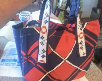 Red/white/blue tote